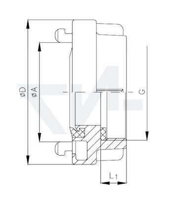 Головка муфтовая с внутренней резьбой Storz тип 01.01.02