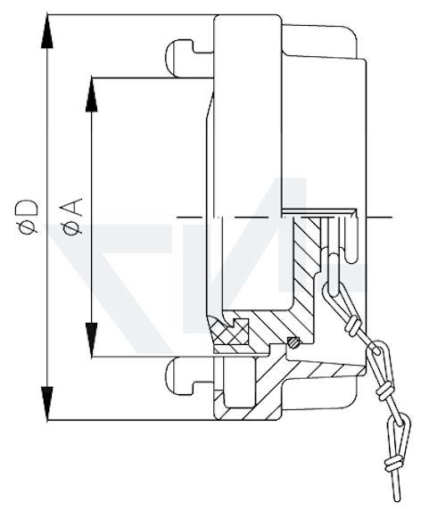 Головка-заглушка Storz с цепью тип 01.01.12
