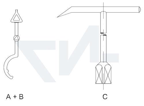 Ключ для гидрантов тип 01.01.17