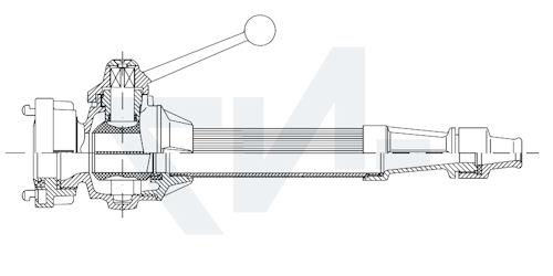 Универсальный пожарный ствол в соотв. с DIN 14365-M по выбору с перекрыванием потока воды, с созданием сплошной компактной или распылённой струи воды с соединительной головкой системы Storz тип 01.01.21