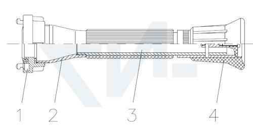 Универсальный пожарный ствол UNIFIRE – V тип 01.01.23