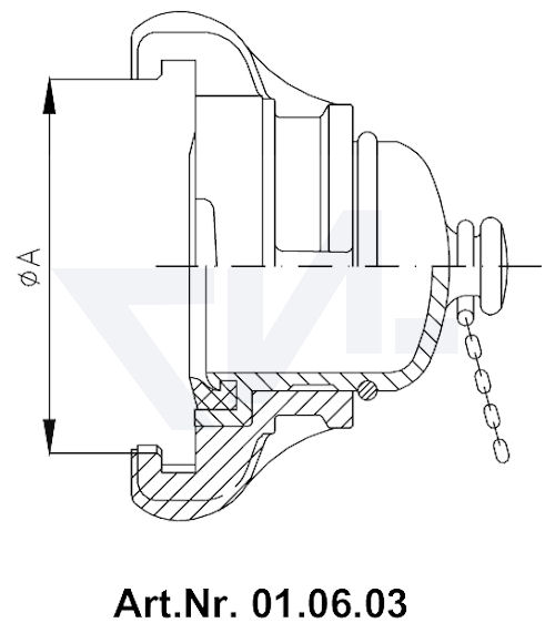 Головка-заглушка с цепью тип 01.06.03