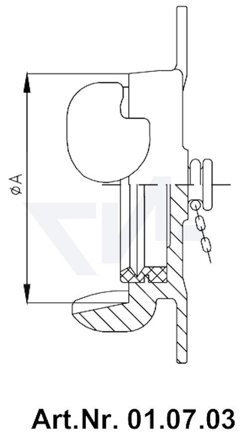 Головка-заглушка с цепью тип 01.07.03