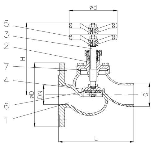 Клапан пожарный DIN 86211 тип 03.01.01 / 03.01.02