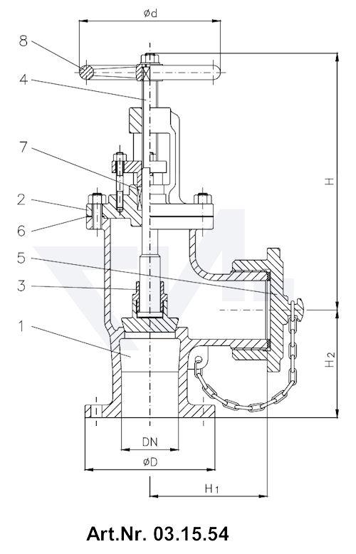 Клапан пожарный термостойкий до 926°C тип 03.15.53 / 03.15.54