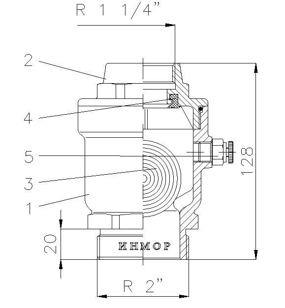 Вентиляционный и воздуховыпускной клапан тип 06.16.01 / 06.16.02 / 06.16.03