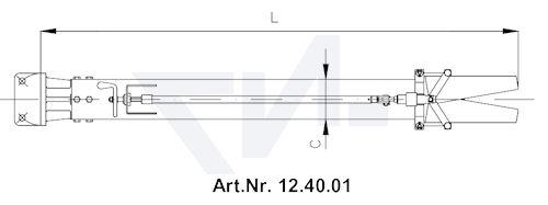 Стволы пенные с 4-х угольн.-фланцем тип 12.40.01 / 12.40.02
