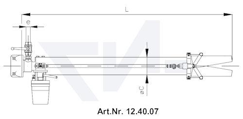 Стволы пенные с 4-х угольн.-фланцем тип 12.40.06 / 12.40.07