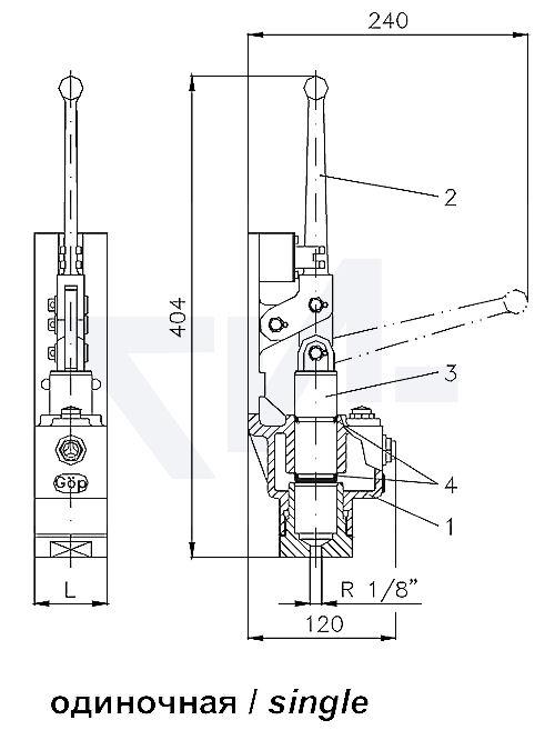 Станция гидравлическая для управления быстрозапорными клапанами