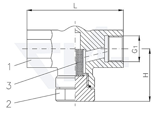 Фильтр муфтовый проходной, нерж. сталь PN400 тип 27.90.01