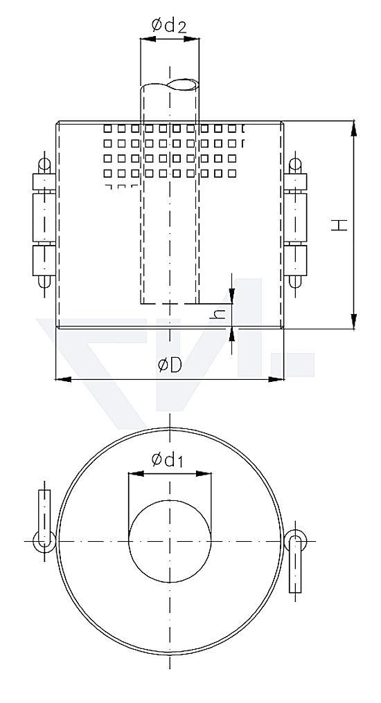 Сетка приемная DIN 87160, сталь оцинкованая тип 30.15.01