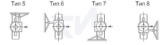 Редуктор для дискового затвора ИНМОР тип 5