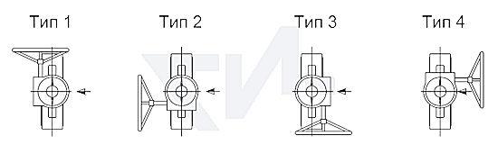 Возможное расположение редуктора затвора. Стандартная модель тип 1.