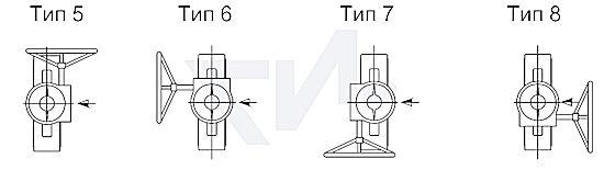 Возможное расположение редуктора. Стандартная модель тип 1.