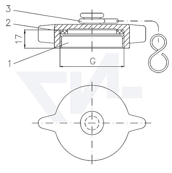 Винтовая крышка DIN 86121 Тип A, Rg 5 Для наполнительных и мерительных трубопроводов тип 55.03.01
