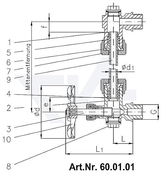 Art.Nr. 60.01.01 нижний узел с запорным устройством