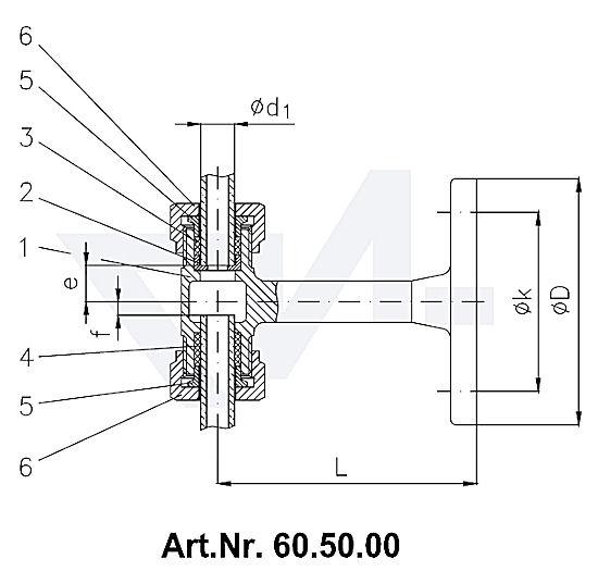 Держатель, Rg 5 для указателя уровня жидкости тип 60.50.00 / 60.50.01