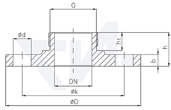 Фланец резьбовой с внешней резьбой тип 82.05.06