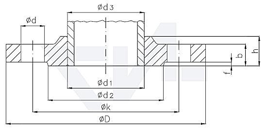 Фланец приварной DIN 86033 PN40 тип 82.06.08