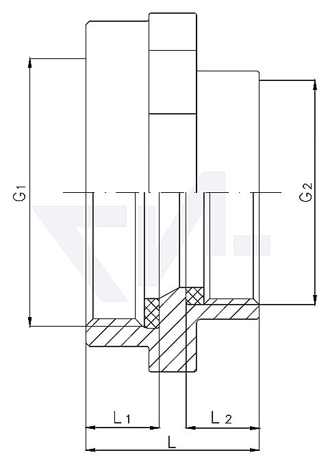 Переходной адаптер-муфта внутр. резьба / внутр. резьба тип 85.03.01