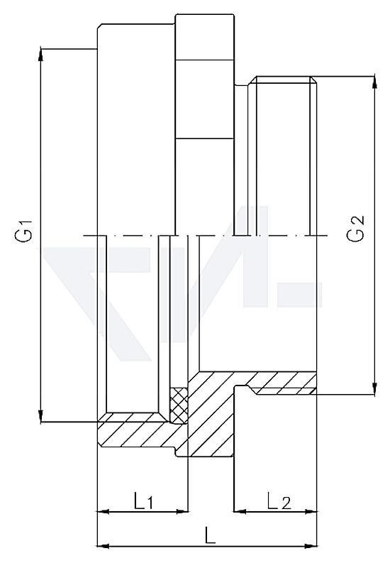 Переходной адаптер внутр. резьба / внеш. резьба тип 85.04.01